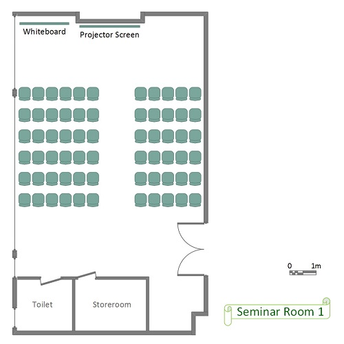 Seminar Room 1 Floor Plan